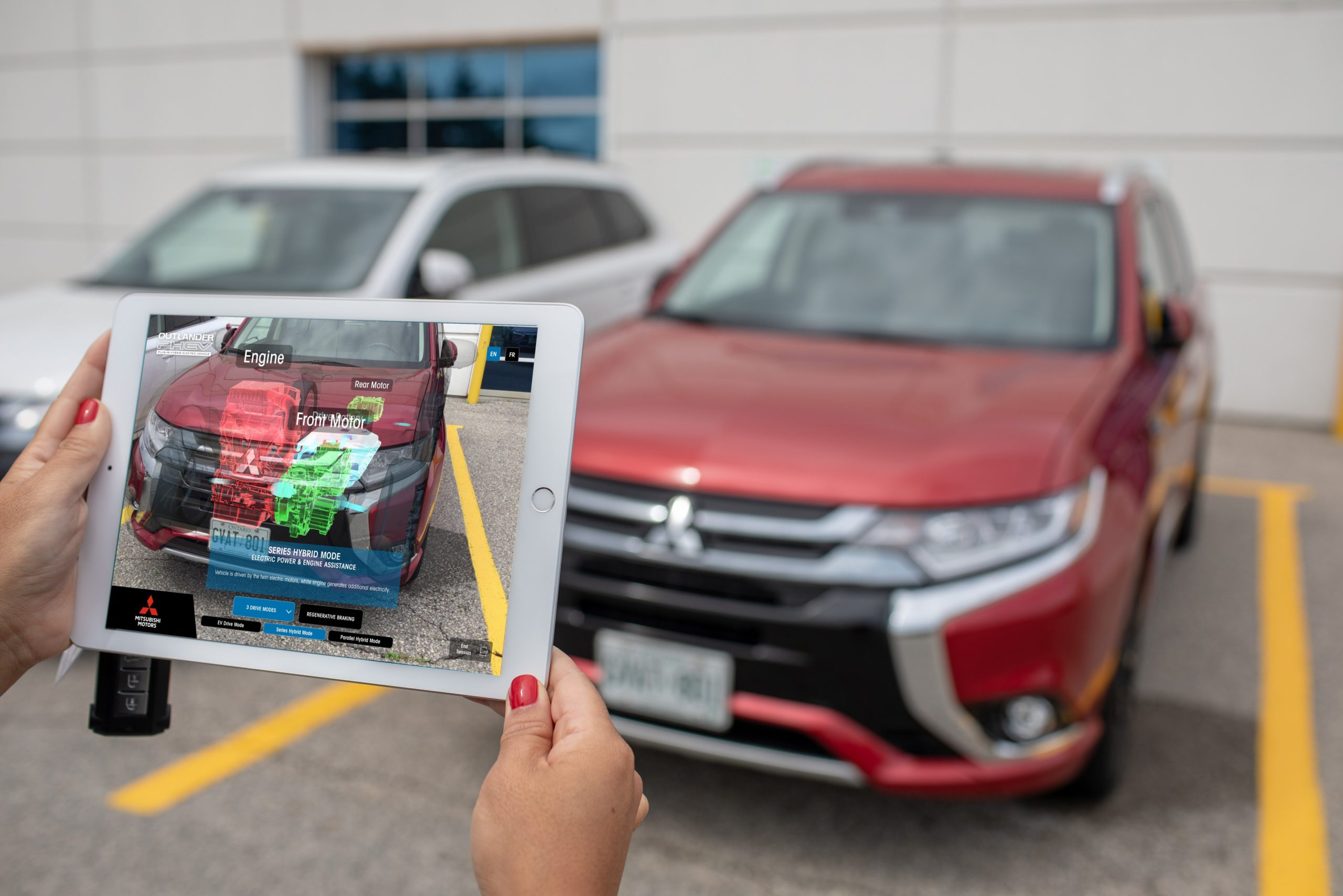 Object-Based Augmented Reality Tool Uncovers Inner Workings of Mitsubishi Plug-In Technology