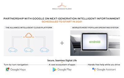 INTERNATIONAL NEWS: RENAULT-NISSAN-MITSUBISHI AND GOOGLE JOIN FORCES ON NEXT-GENERATION INFOTAINMENT