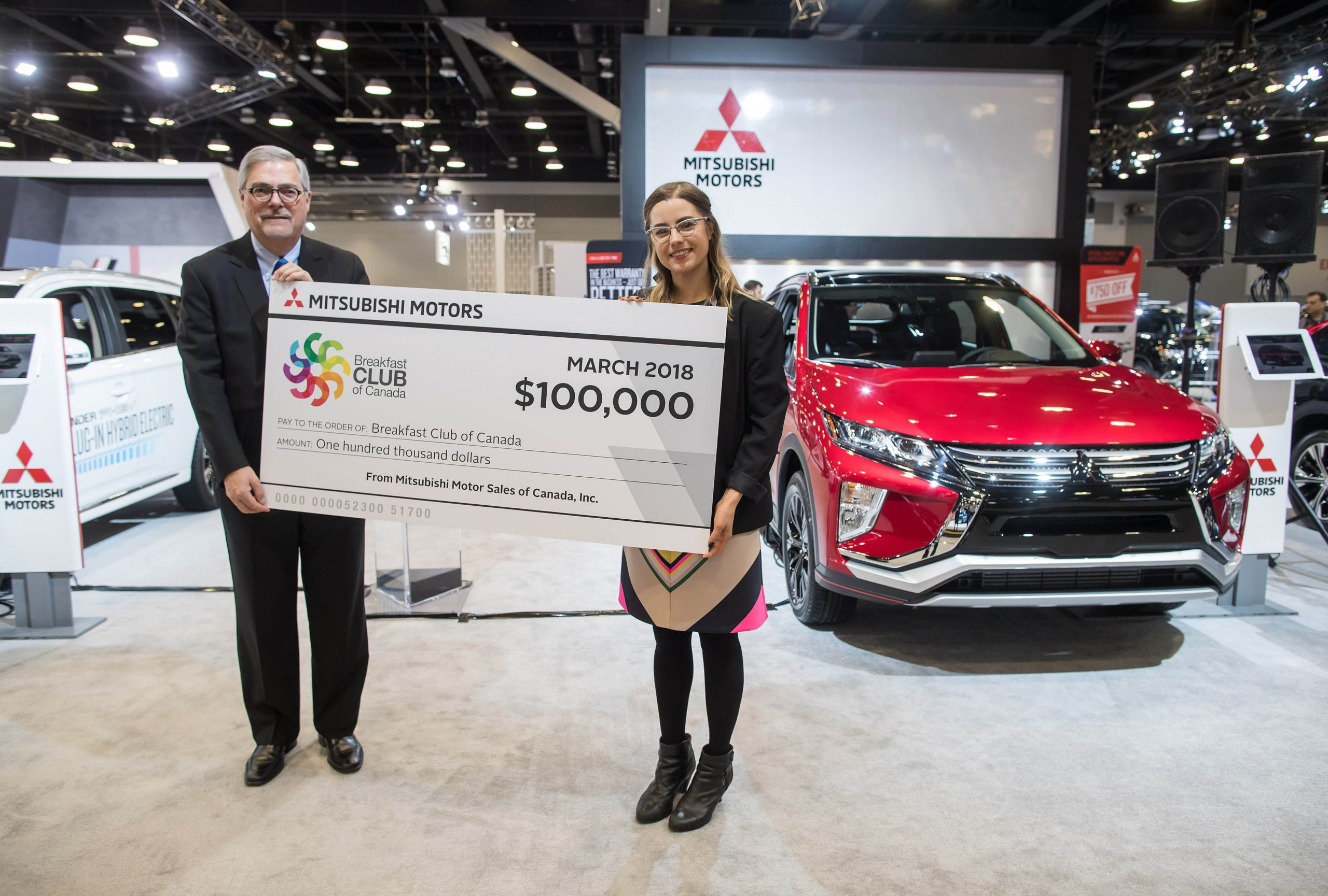 Mitsubishi Motors Helps to Feed 100,000 Kids